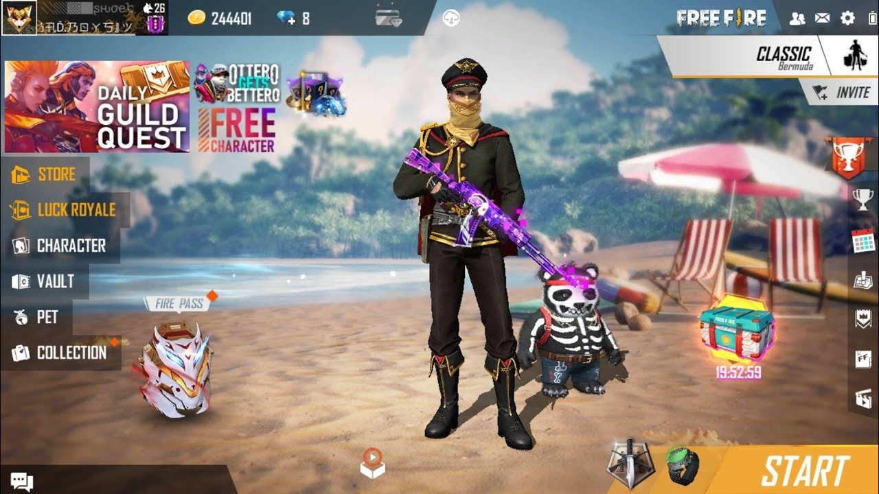 free fire Live new update is open - YouTube
