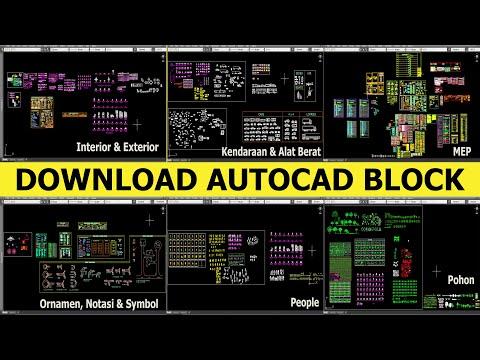 Membuat Block AutoCAD, Insert Dan Free Download Koleksi Autocad Block