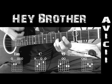 Como Tocar ▷Avicii ~ Hey Brother◁||Tutorial en Guitarra +Solo || + ...