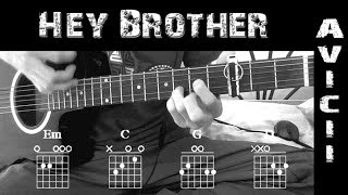 Como Tocar ▶Avicii ~ Hey Brother◀||Tutorial en Guitarra +Solo || +Chords/Tabs || How to Play Guitar✔