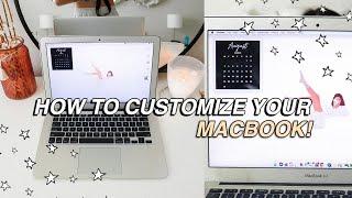easy ways to CUSTOMIZE your macbook! aesthetic + minimalist *MUST DO!*(organization & customization)