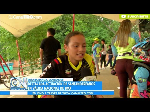 Destacada actuación de santandereanos en válida nacional de BMX