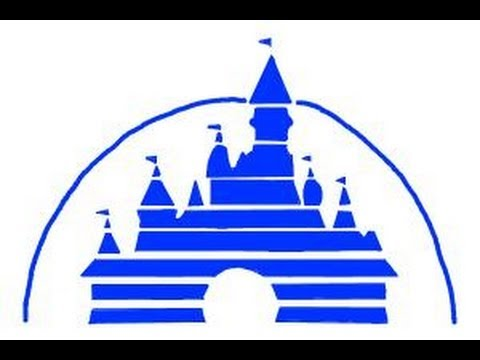 How to draw the Disney logo - YouTube