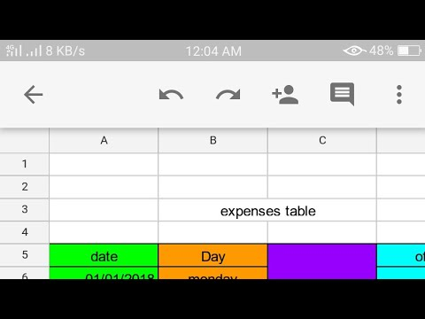 How To Use [MS Excel] On Your Android Phone/make Daily Expenses Sheet On Mobile