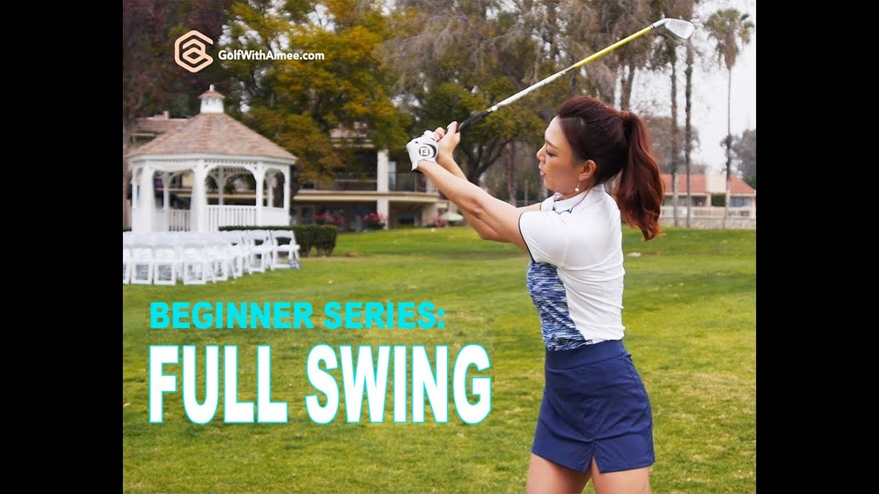 beginner series 006 full swing golf with aimee youtube. Black Bedroom Furniture Sets. Home Design Ideas