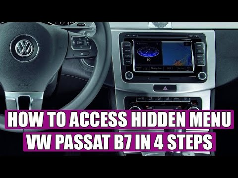 how to acces hidden menu on vw passat b7 2010 2015 in. Black Bedroom Furniture Sets. Home Design Ideas