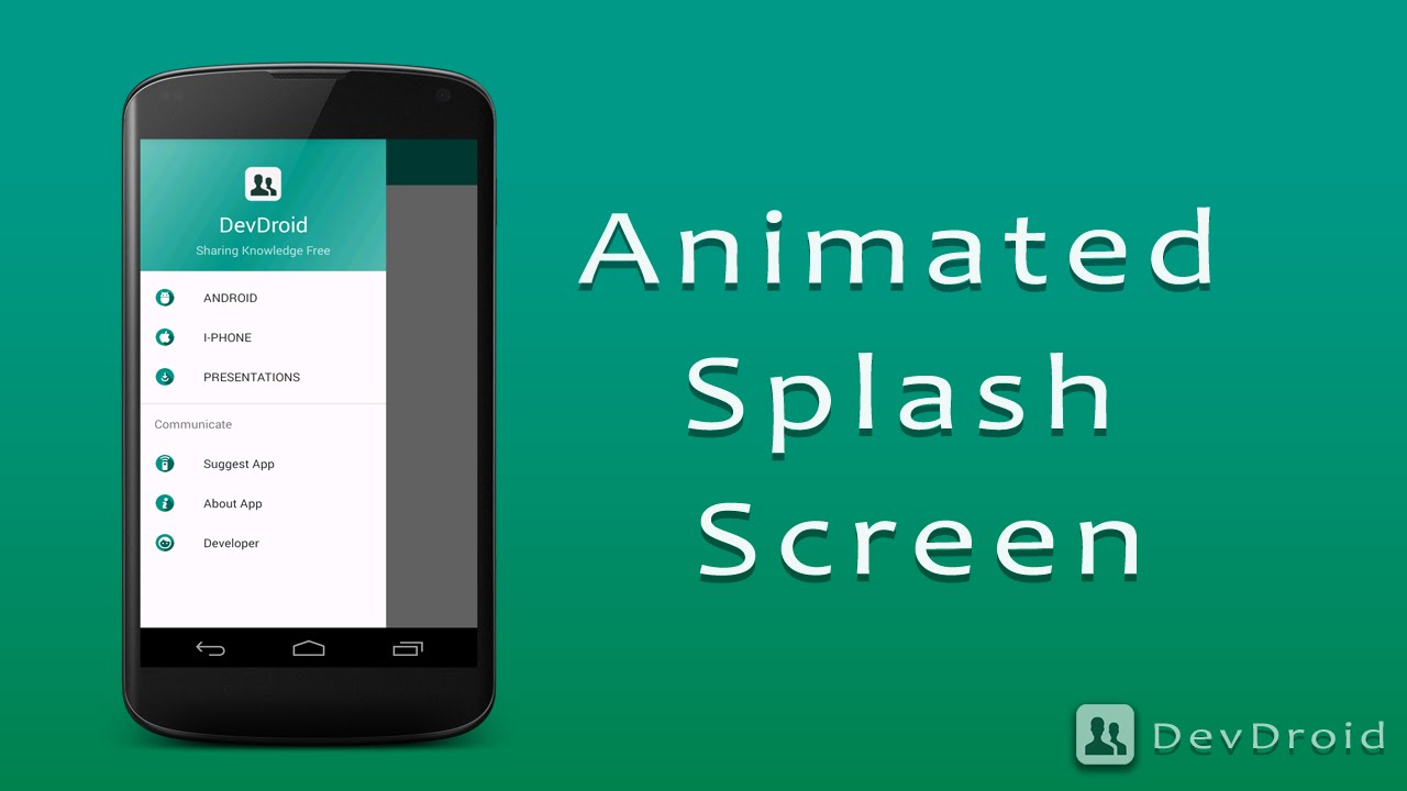 Animated Splash Screen - Android Application - YouTube