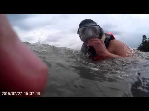 Unforgiving seas under water - Khawar Abbas and Asad Sajid -  snorkeling in Philippines -