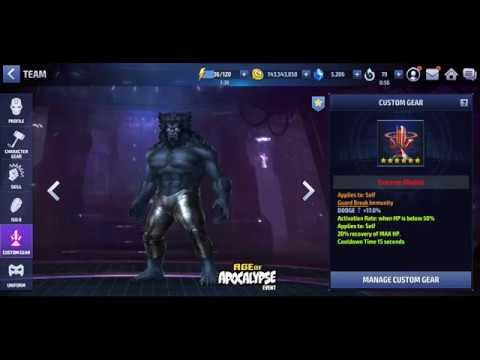 T2 Beast (AoA uniform) 104k Extreme Mode alliance Battle [Combat Villain] - Marvel Future Fight