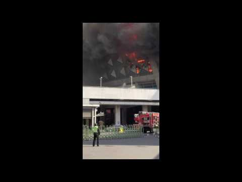 Fire at Hongkou Stadium, Home of the Shanghai Shenhua Football Team