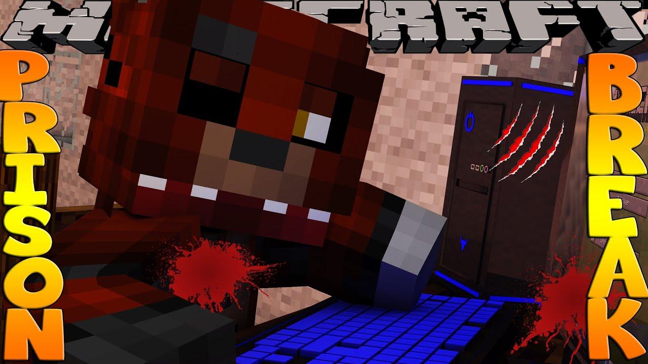 Minecraft PRISON BREAK - FIVE NIGHTS AT FREDDYS, HAS FOXY KILLED SCUBA STEVE???