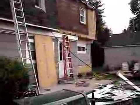 Tearing Off Mansard Roof Youtube