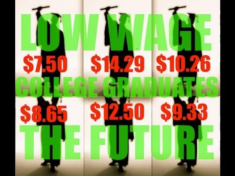 Why College Graduates Are Stuck In Low Wage Jobs and Why It is Never Going To Change