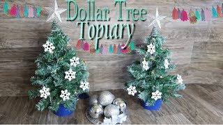 Dollar Tree DIY Christmas Topiary