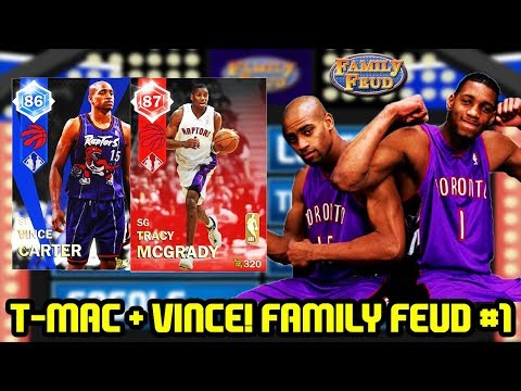RUBY TMAC w/ VINCE CARTER DUO! FAMILY FEUD EPISODE 1! NBA 2K18 MYTEAM