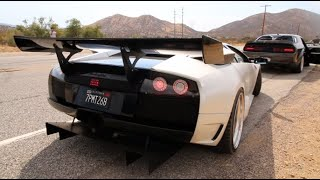 200MPH PULLS WITH STRAIGHT-PIPED LAMBORGHINIS!