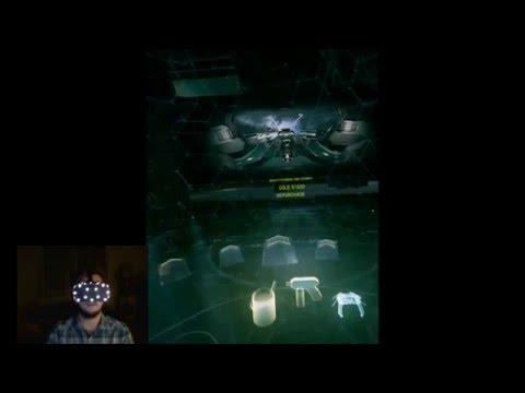 Oculus Rift CV1 Kickstarter playing EVE Valkyrie!