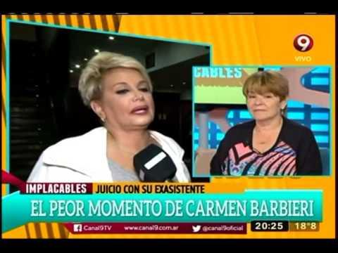 El peor momento de Carmen Barbieri