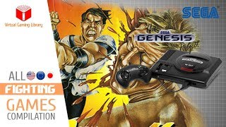 All SEGA Genesis/Mega Drive Fighting Games Compilation - Every Game (US/EU/JP/BR)