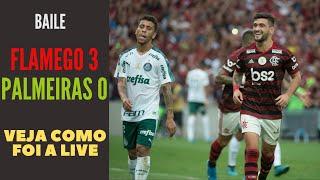 Flamengo passeia no Maracanã e faz 3 a 0 no Palmeiras. Veja como foi a live no canal