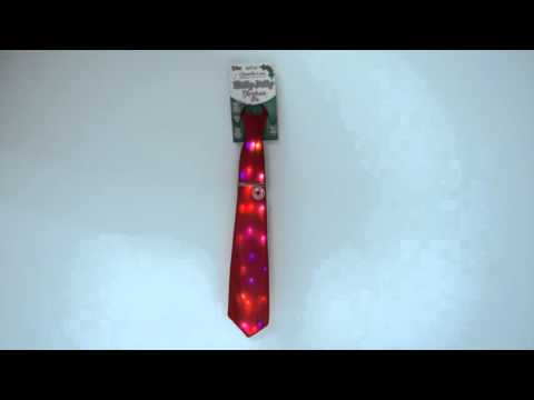 Holly Jolly Singing Light-Up Christmas Tie by Chantilly Lane®