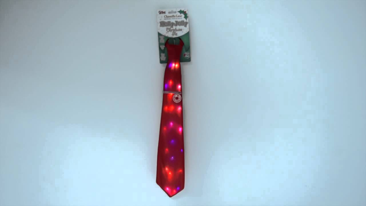 holly jolly singing light up christmas tie by chantilly lane - Light Up Christmas Tie