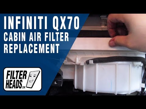 How to Replace Cabin Air Filter 2014 Infiniti QX70
