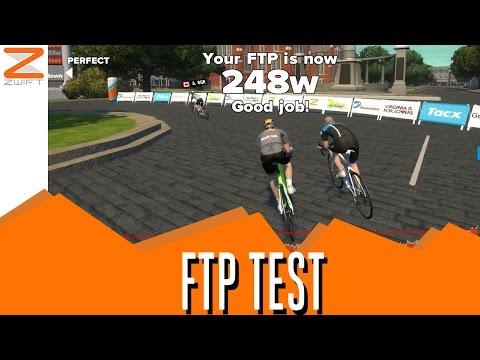 Zwift FTP Test Workout Mode