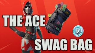 Fortnite Battle Royale: *NEW* Ace Skin, Swag Bag & Gold Gun Gameplay!