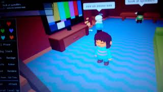 ROBLOX - Undertale I am Frisk and here is Sans and two Sans and Chara