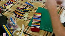 Court Mounting, Captain Albert Borella VC MM's original medals.