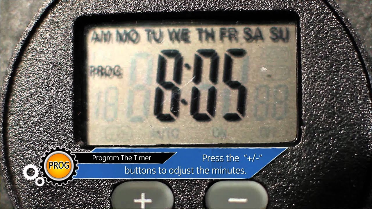ge outdoor digital timer programing the timer part 2