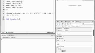 So Erstellen Sie ein R Markdown-Datei