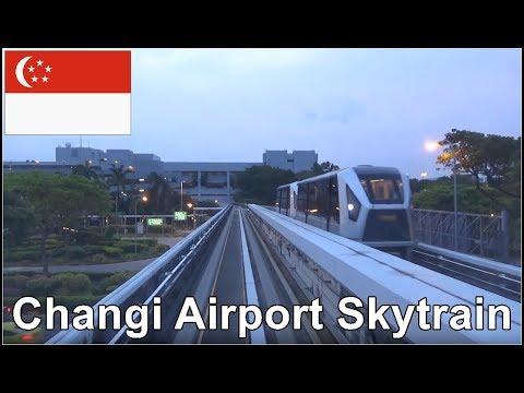 Singapore Changi Airport - Skytrain ride -  From Terminal 3  to Terminal 2