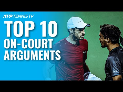 Top 10 On-Court ATP Tennis Arguments! - Tennis TV