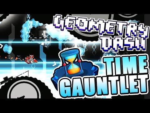 Geometry Dash 2.11 TIME GAUNTLET All Levels COMPLETE ~ MIND BENDING LEVELS