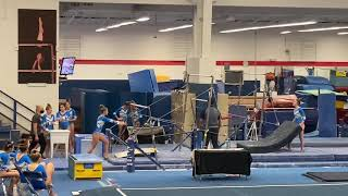 A Buteau L10 Bars (dismount in pit) - preseason mock meet, Oct. 2020