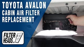 Cabin Air Filter Replacement - Toyota Avalon