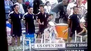 Ball guy tells Andy Murray to F*** off during US Open Final?
