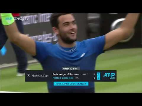 Brilliant Matteo Berrettini beats Auger-Aliassime in Stuttgart final!