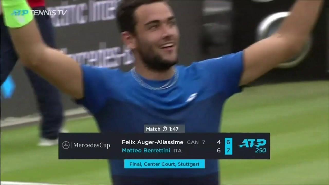 Brilliant Matteo Berrettini beats Auger-Aliassime in Stuttgart final!