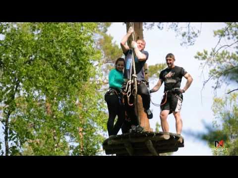 Высотный город тимбилдинг веревочный парк