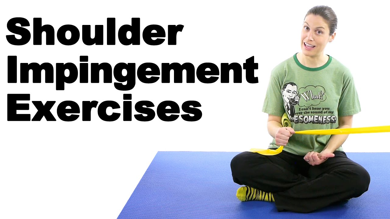 Shoulder Impingement Exercises - Ask Doctor Jo - YouTube