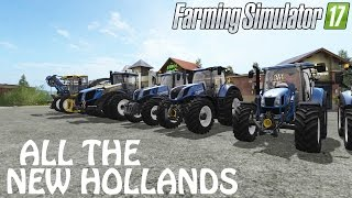 All The New Holland Equipment/Vehicles in Farming Simulator 2017 | PS4 | Xbox One