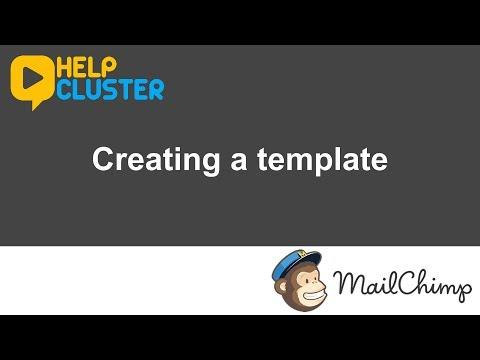 Mailchimp - Creating a template