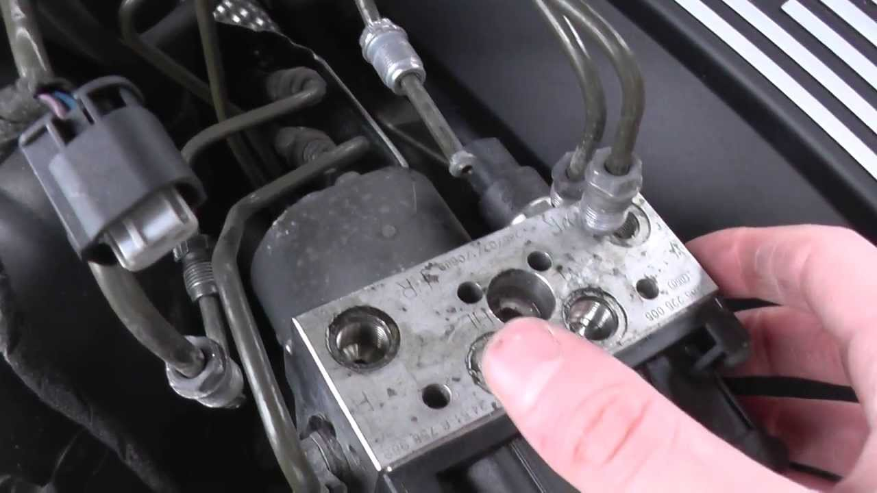 remove bmw abs pump  u0026 module guide