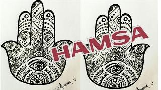 How to draw HAMSA | the Hand of Fatima| AnkianXO