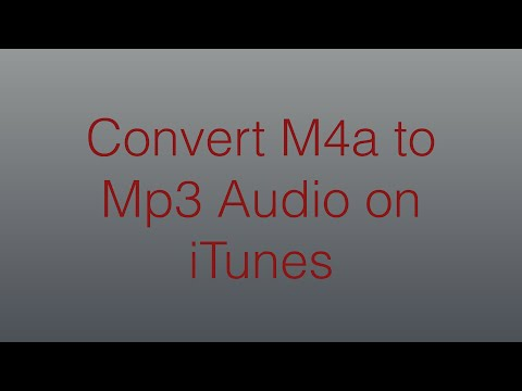 Convert M4a Audio to Mp3 via iTunes