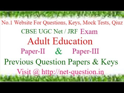 CBSE UGC NET Adult Education,Paper-II,Paper-III,Solved,Previous Questions,Answer keys,Mock Test,Quiz