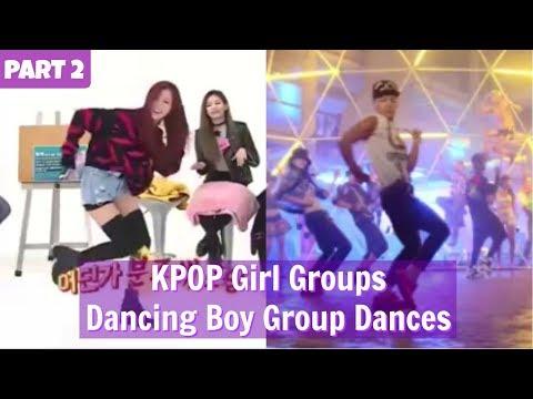 PART 2  KPOP Girl Groups Dancing Boy Group Dances  WEEKLY IDOL EDITION